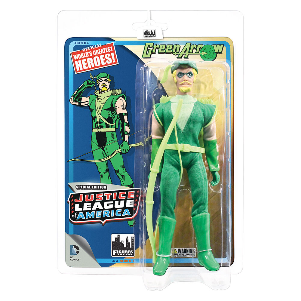 DC Comics Justice Justice Justice League Retro Style Action Figures Series 1  Green Arrow by FTC 013db7