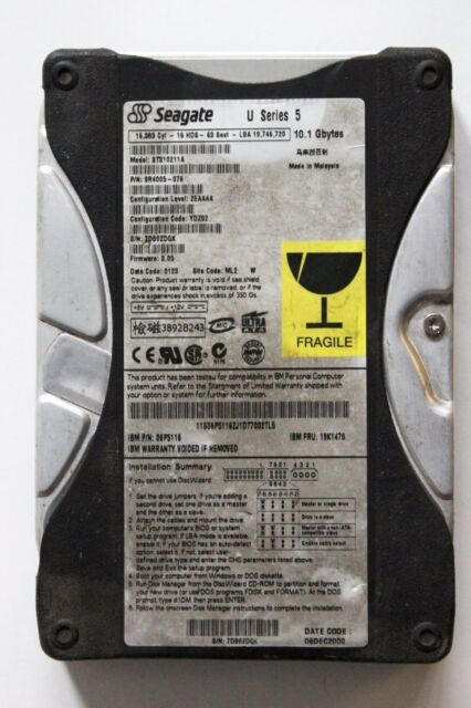 "Seagate ST310211A 10.1GB 3.5"" IDE HDD"
