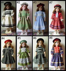 robe-poupee-ancienne-allemande-Jumeau-SFBJ-Kestner-Halbig-dress-antique-doll