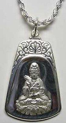 AUTH 1014 Buddah Quan Yin Guanyin Goddess Buddha compassion Sterling Silver Char