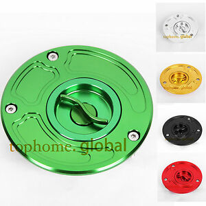 CNC Fuel Gas Cap For Kawasaki ZX6R 00-09 ZX6RR 03-06 ZX9R 00-03 ZX10R 04-09 US