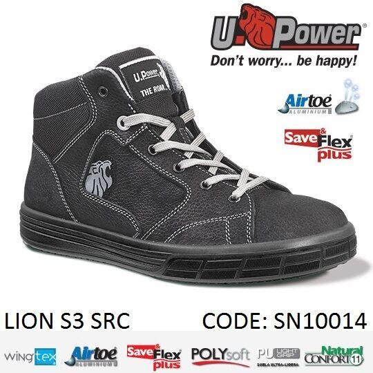 acquista online oggi Upower Upower Upower Scarpa Scarpe lavoro antinfortunistica pelle S3 alta  LION U-POWER  acquista online