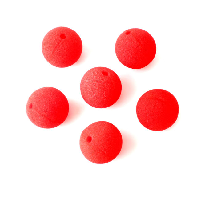 6x Red Foam Circus Clown Nose Costume Carnival Christmas Party Props Dress up
