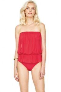 aed985e2a3e NWT GOTTEX red mesh 12 contour blouson bandeau one piece swimsuit ...