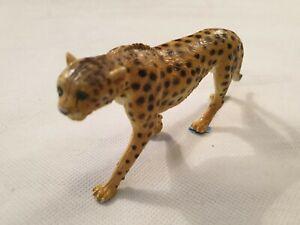 "AAA Gomma Ghepardo FIGURINA modello Vintage Grande Cat Toy lungo 7"" lunghi 18cm"