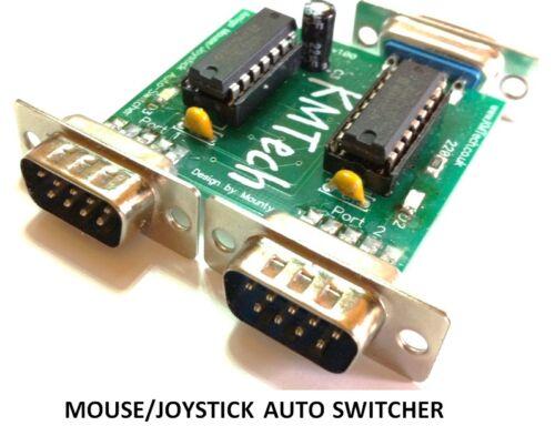NEW IMPROVED VERSION Joystick / Mouse Auto Switcher KMTech Amiga Commodore