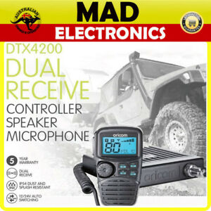 ORICOM-DTX4200-5W-80CH-UHF-CB-RADIO-MOBILE-REMOTE-LCD-MIC-DUAL-RECEIVE-12V-24V