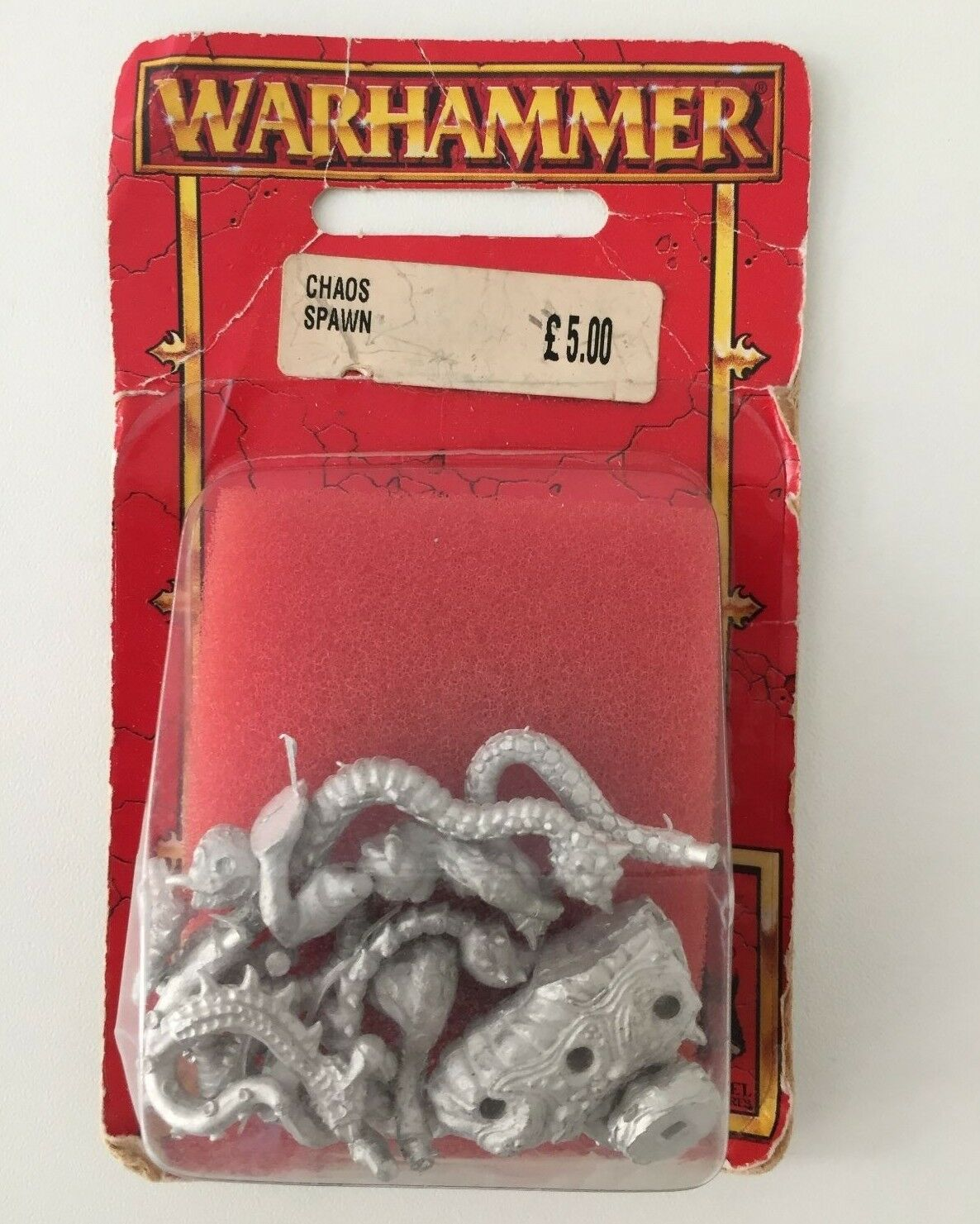 WARHAMMER CHAOS SPAWN NURGLE SLAANESH KHORNE TZEENTCH METAL BLISTER (RED 575)