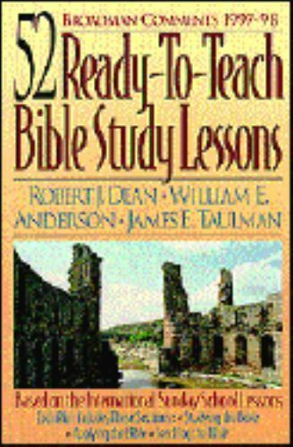 Broadman Comments, 1997-1998 : 52 Ready-to-Teach Bible Study Lessons by  Robert J  Dean (1997, Paperback)