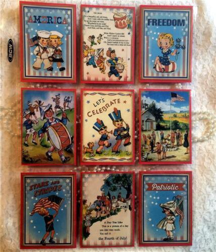 Patriotic Kids~USA~Pocket Pen Pal Letter Kit //w Protector~#71~judysjemscrafts