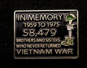 IN-MEMORY-VIETNAM-WAR-LAPEL-HAT-PIN-US-NAVY-ARMY-AIR-FORCE-MARINES-58479-POW-MIA