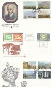 SOUTH AFRICA 6 UNADDRESSED FIRST DAY COVERS LOT 4 WITH INSERTS