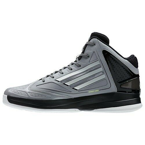 New Adidas Grey / White Adizero Ghost 2.0 Uomo Basketball Shoes G56969 Size 8