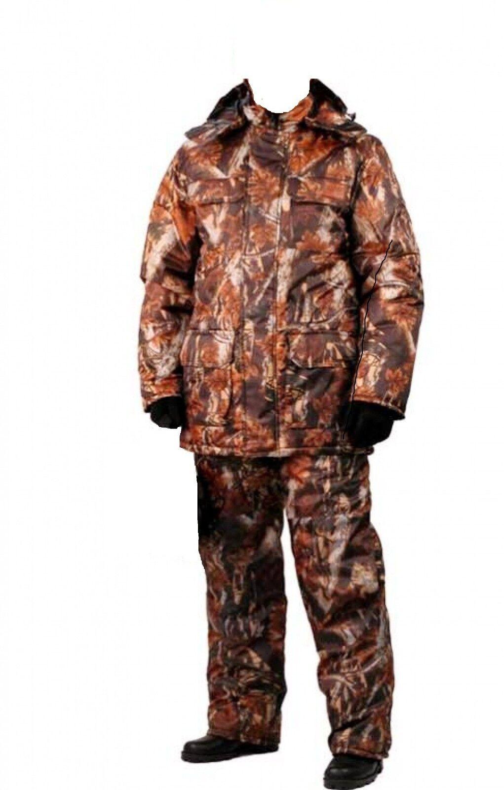 Warm pesca Hunting Camouflage Suit Set Jacket Trousers Bib e Brace XL nuovo