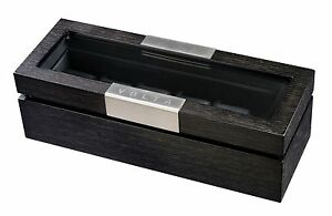 New-High-Quality-VOLTA-Charcoal-Black-6-Watch-Display-Case-Storage-Box
