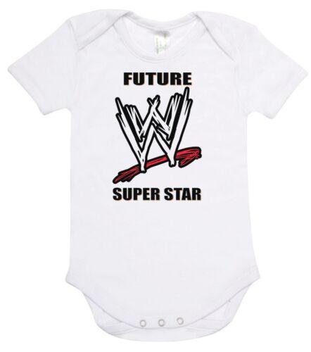 Baby Romper Suit PLUS a Baby Bib FUTURE WWE SUPERSTAR