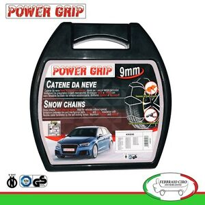 Catene-Neve-Power-Grip-9mm-Gruppo-90-per-pneumatici-205-55r16-Jaguar-X-Type-2004