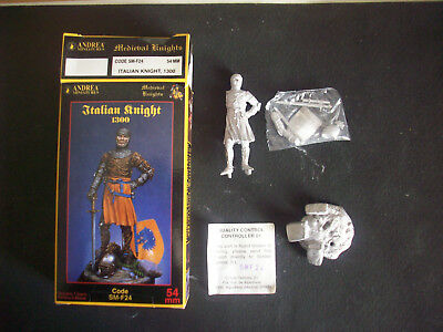Andrea Miniatures Italian Knight 1300, 54 Mm.- Scala 1/32