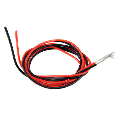 RC Model Style 3135 12AWG 200°C 600V Silicone Rubber Wire Cable Red 1M Black 1M