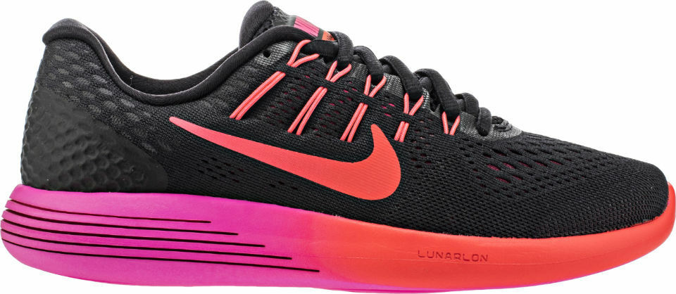 Nike Women's Red/Bright Lunarglide 8 - Black/Noble Red/Bright Women's Crimson (843726-006) f0108d