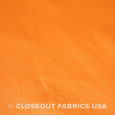 Orange Faux Leather Auto Upholstery Pleather Fabric Vinyl 54 W Ebay