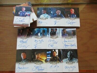 Star Trek Discovery saison 1 Anthony Rapp /& WILSON Cruz Dual Autograph Card