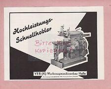 HAALE/SAALE, Werbung 1958, VEB (K) Werkzeugmaschinenbau Hochleistungs-Schnellho