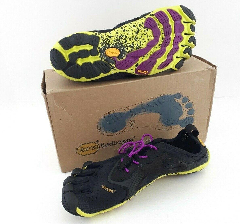 Vibram  Wouomo FiveFingers V -Run scarpe EU37 US6 UK4 Giallo nero viola 16W3105  elementi di novità