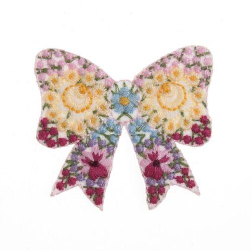 CFM2\078X Craft Factory Hierro O Coser En Tela Motivo De Adorno Floral Arco-cada uno