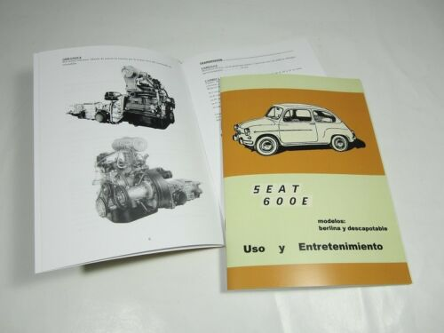 Manual uso y entretenimiento Seat 600 E
