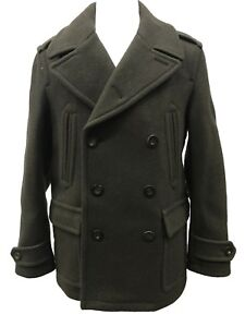 2537b050b85 Coach 83085 Men s Authentic Astor Wool Double Breasted Peacoat ...