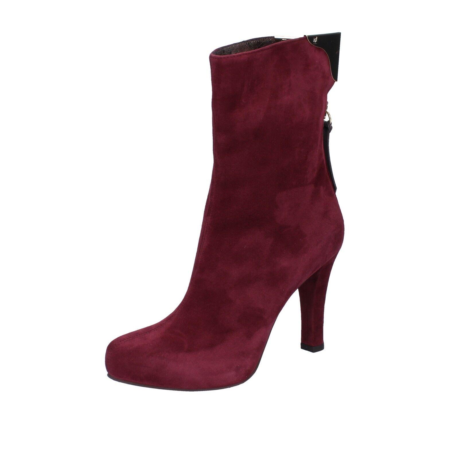 Zapatos señora giancarlo Paoli 37 UE botines botines botines Borgoña serraje ay131-37  seguro de calidad