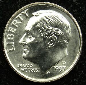 1972 D Roosevelt Uncirculated Dime ~ Raw Coin from Bank Roll