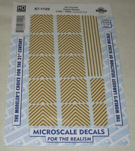 MICROSCALE-DECALS-HO-SCALE-87-1129-Rio-Grande-Diesel-Stripes-1962-1984