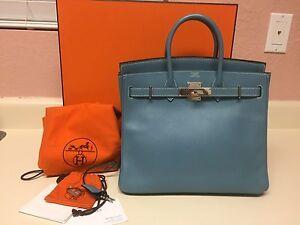 0e2c260f76 Raro * Auténtico Hermes Epsom HAC Birkin 28 Cm en Azul Jean ...