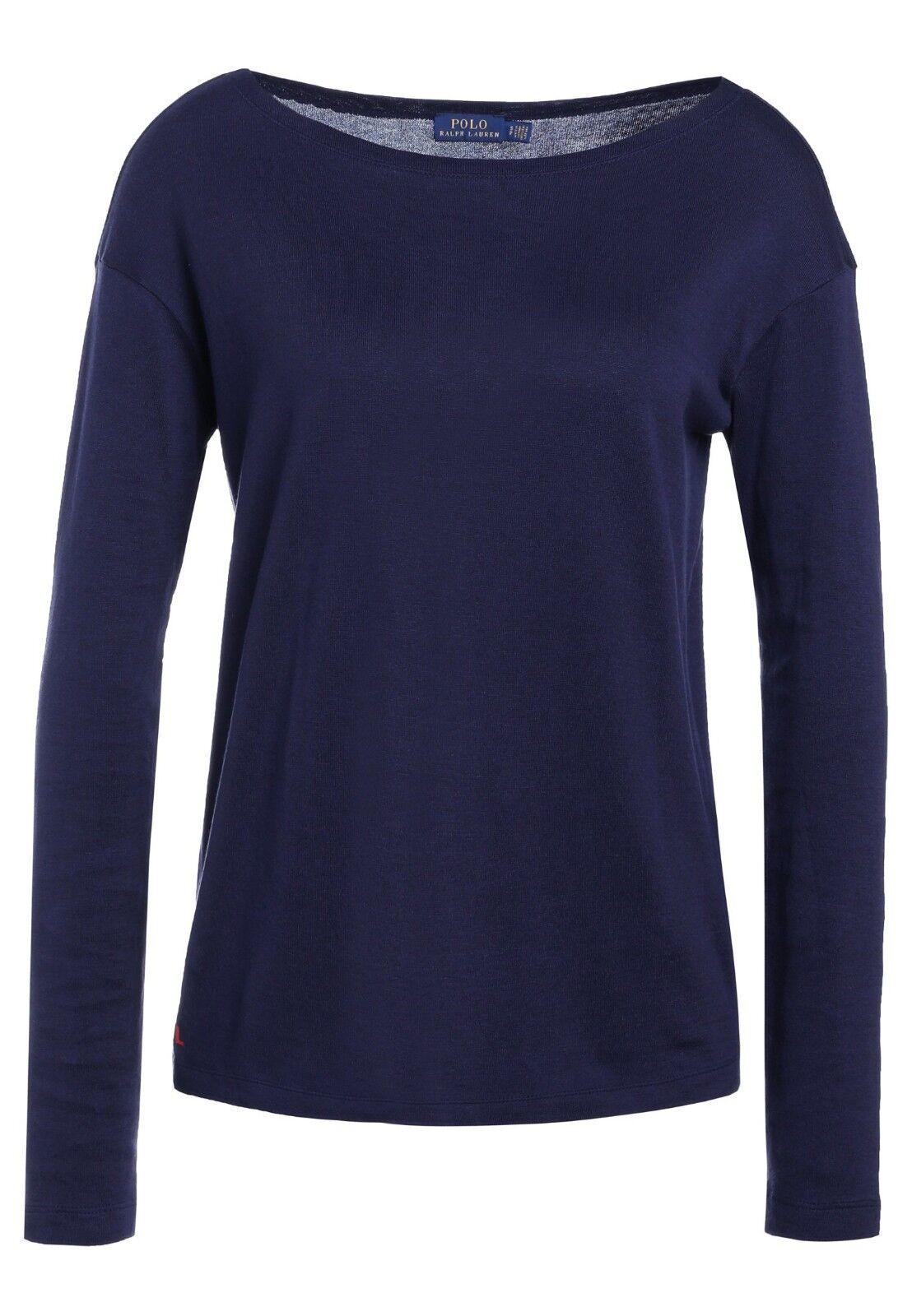 Polo Ralph Lauren Größe M 38 Chemise manches longues Pull shirt nouveau Navy a4534