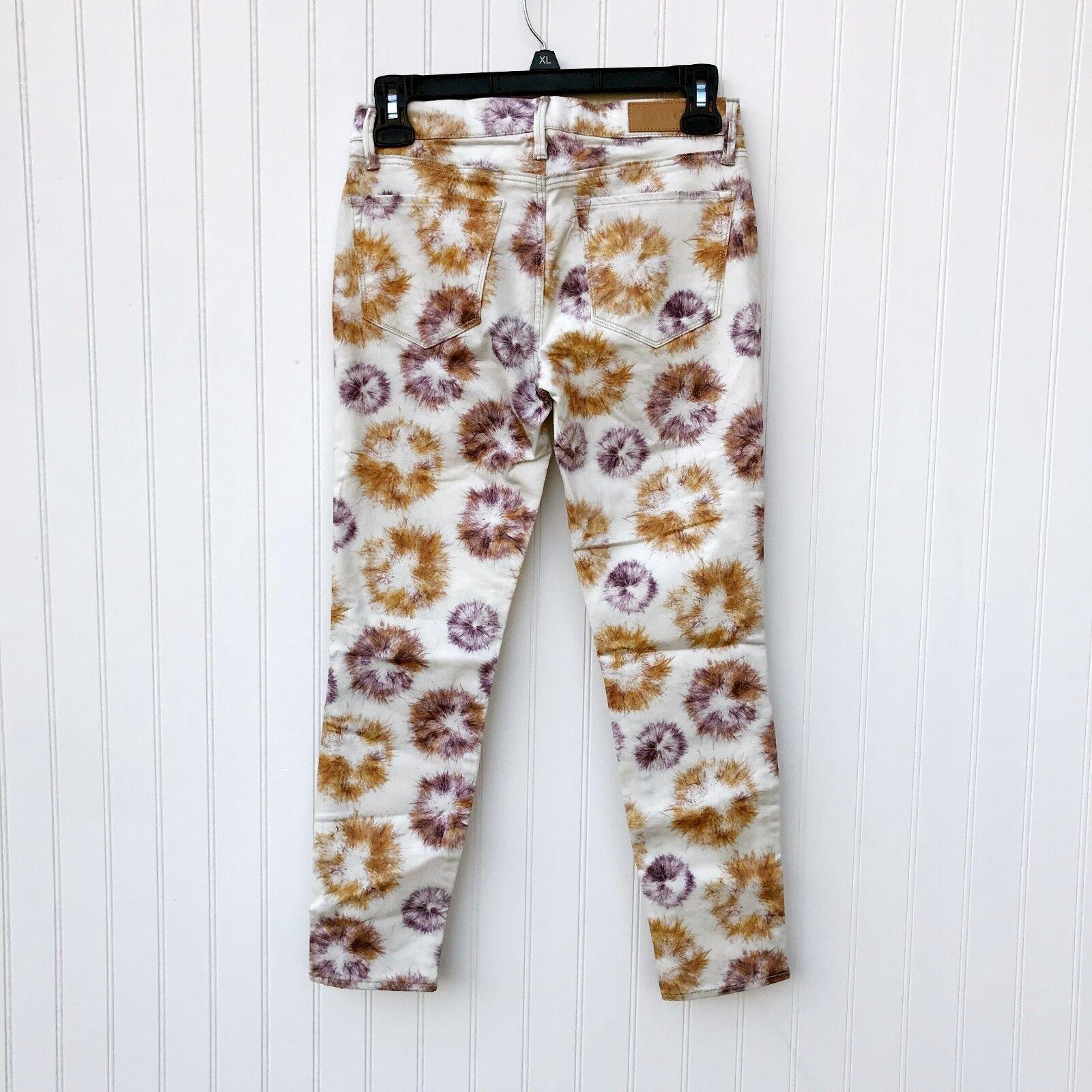 ISKO the Denim Language White Denim Jeans PJ Soft Size 24 Yellow NEW Sample