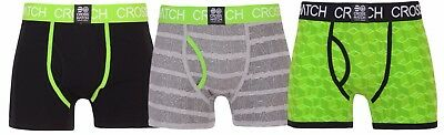 New Mens 3 Pack Crosshatch Designer Boxers Shorts Underwear Trunks Multipack Set