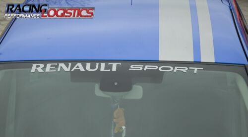 Windshield Renault Sport RS Decals Stickers Vinyl Turbo Clio Megane Laguna Captu