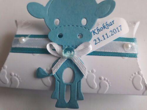 Geburt,Baby Shower BabyTischdeko mit Giraffe 5,10 Blau Gastgeschenke Taufe