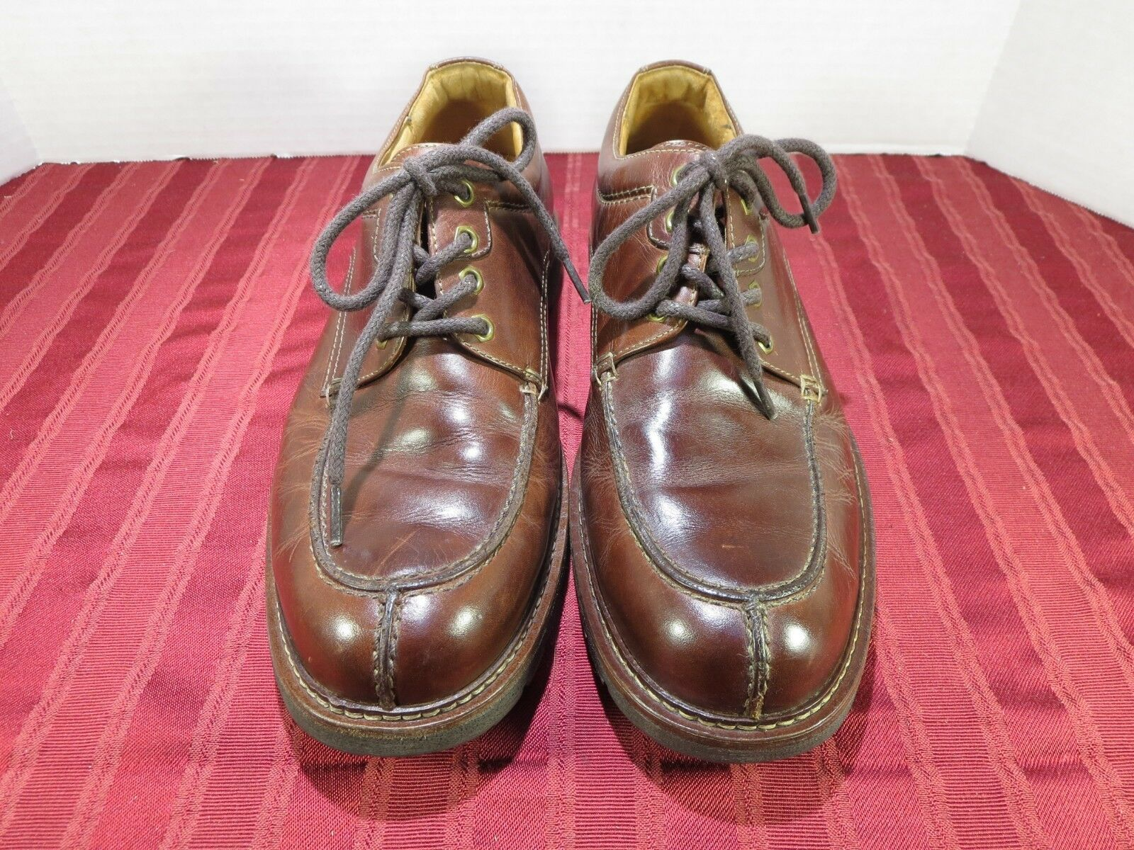 Johnston & Murphy Flex Leather Oxford Split Toe Casual Dress Men Size 10.5M