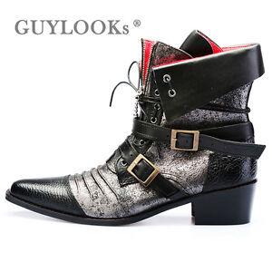 Designer Homme Vintage Leather Vampire Mod Mens Ankle Western ...