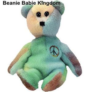 Image is loading TY-JINGLE-BEANIE-PEACE-THE-BEAR 1e9d46d9007