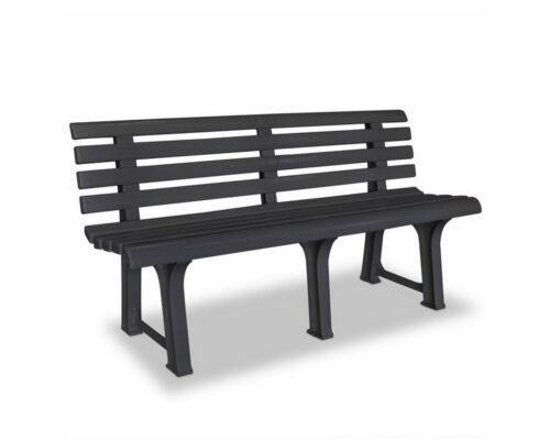 Garden Bench Patio Seater Benches Plastic Patio Furniture Park Anthracite