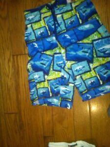 Tronchi 400936316907 Shorts Sharks Ten Medium Board taglia Boys Hang Blue Nwt wq1v0v