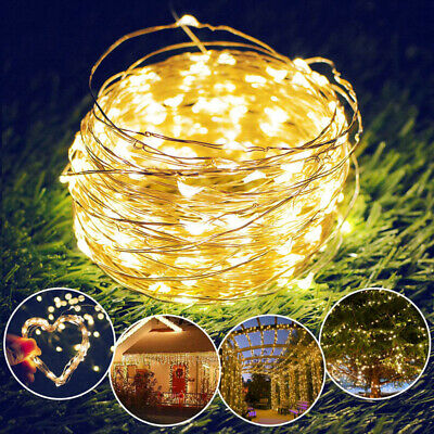 LED Solar String Lights Waterproof 5//10//15//20M Copper Wire Fairy Outdoor Garden