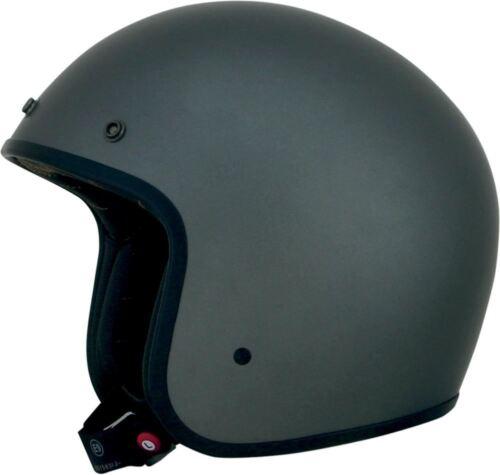 AFX FX-76 Frost Gray Open Face Low Profile Motorcycle Helmet Retro Vintage