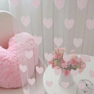 Heart Shape Tassel Drape Room Window Vestibule Door Wall Panel String Curtain
