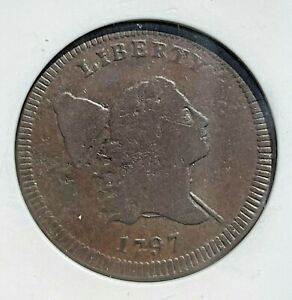 ***SCARCE DATE - PLAIN EDGE*** 1797 Half Cent 1/2 Cent! ANACS Fine Details!
