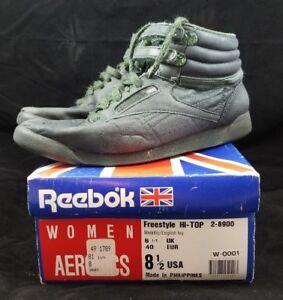 Vintage Reebok Freestyle Hi-Top W  Box Womens Aerobics 80s Shoes 8.5 ... aec4dd521